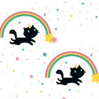 papier peint chat & licorne caticorn gros plans