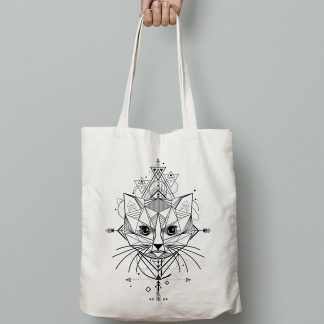 sac chat origami tote bag