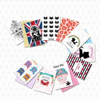 cartes et enveloppes design graphique chat creation